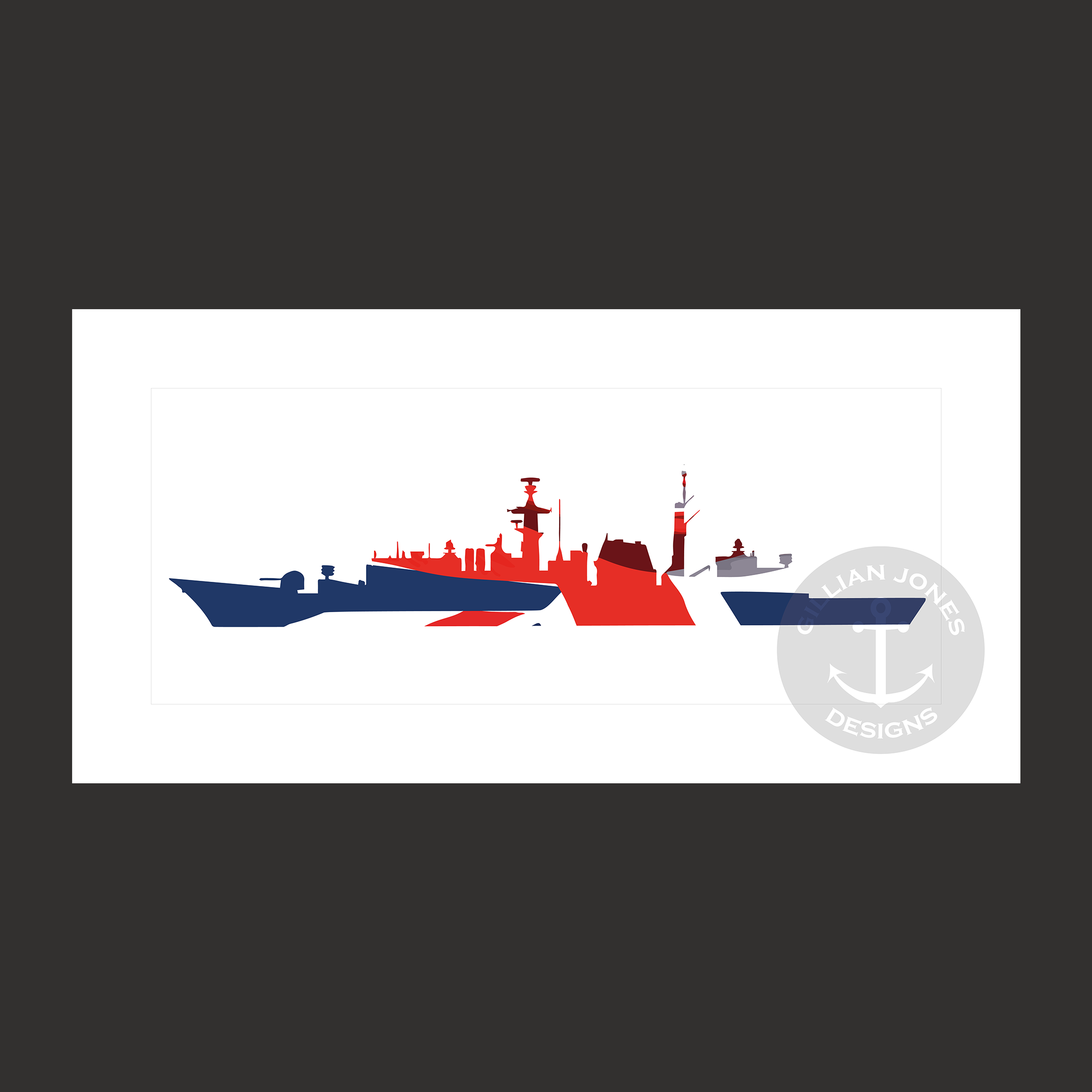 Type 22 Frigate Union Flag Limited Edition Print